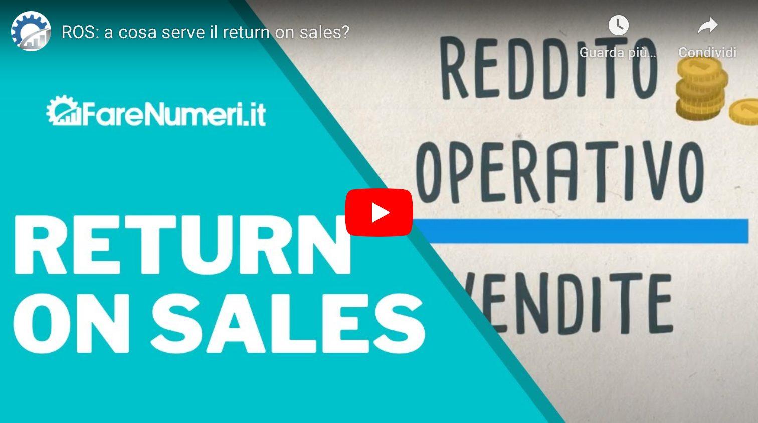Video su Youtube che spiega il return-on-sales