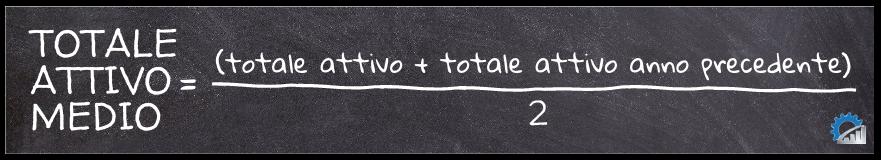 Formula di calcolo del totale attivo medio