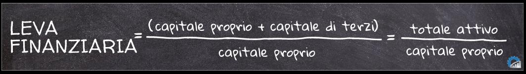 Formula per il calcolo della leva finanziaria
