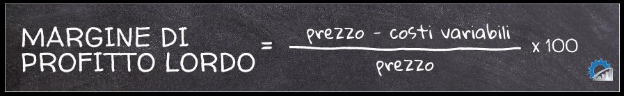 Formula per il calcolo del margine di profitto lordo