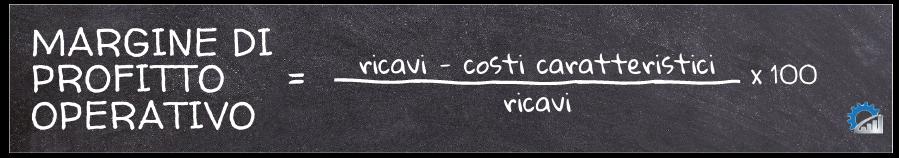 Formula per il calcolo del margine di profitto operativo