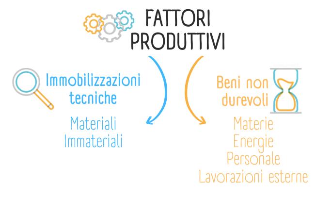 Schema grafico che rappresenta le due tipologie di fattori produttivi