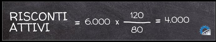Applicazione della formula per il calcolo dei risconti attivi
