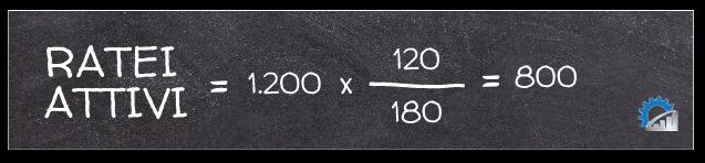 Applicazione della formula per il calcolo dei ratei attivi