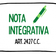 A cosa serve la nota integrativa?