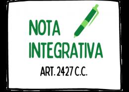 A cosa serve la nota integrativa?